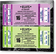 Acrylic Print featuring the digital art Elvis Presely Tickets by Marvin Blaine