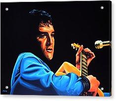 Elvis Presley 2 Painting Acrylic Print by Paul Meijering