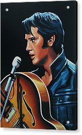Elvis Presley 3 Painting Acrylic Print by Paul Meijering