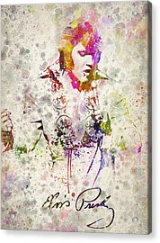 Elvis Presley Acrylic Print by Aged Pixel