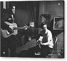 Elvis Presley And Scotty Moore 1956 Acrylic Print by The Harrington Collection