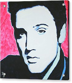 Elvis Presley - Crimson Pop Art Acrylic Print