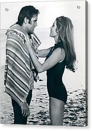 Elvis Presley Getting Dried Off Acrylic Print by Retro Images Archive