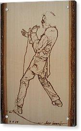 Elvis Presley - If I Can Dream Acrylic Print by Sean Connolly