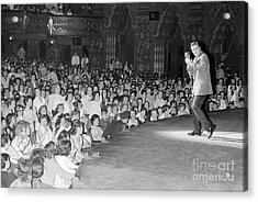 Elvis Presley In Concert At The Fox Theater Detroit 1956 Acrylic Print by The Harrington Collection