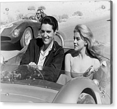 Elvis Presley In Film Acrylic Print by Retro Images Archive