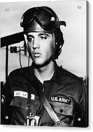 Elvis Presley In Military Uniform Acrylic Print by Retro Images Archive