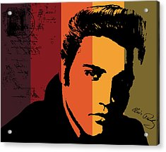 Elvis Presley Acrylic Print by Kenneth Feliciano