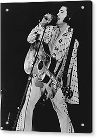 Elvis Presley Sings Acrylic Print by Retro Images Archive