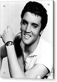 Elvis Presley Looking Casual Acrylic Print by Retro Images Archive