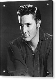 Elvis Presley Looks Into The Distance Acrylic Print by Retro Images Archive