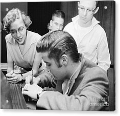 Elvis Presley Meeting Fans 1956 Acrylic Print by The Harrington Collection