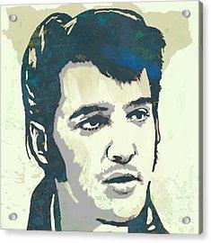 Elvis Presley - Modern Pop Art Poster Acrylic Print by Kim Wang