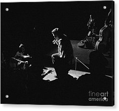 Elvis Presley On Stage At The Fox Theater In Detroit 1956 Acrylic Print by The Harrington Collection