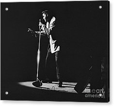 Elvis Presley On Stage In Detroit 1956 Acrylic Print by The Harrington Collection