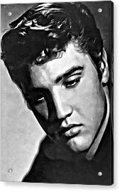 Elvis Presley Painting Acrylic Print by Florian Rodarte
