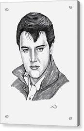 Elvis Presley Acrylic Print by Patricia Hiltz