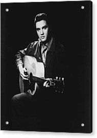 Elvis Presley Playing Guitar Acrylic Print by Retro Images Archive