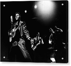 Elvis Presley Playing Hard  Acrylic Print by Retro Images Archive