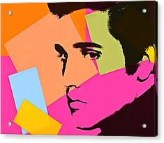 Elvis Presley Pop Art Acrylic Print by Dan Sproul