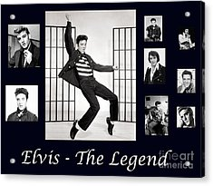 Elvis Presley - The Legend Acrylic Print by Darleen Stry