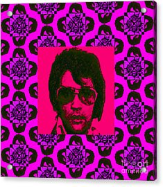 Elvis Presley Window M88 Acrylic Print by Wingsdomain Art and Photography
