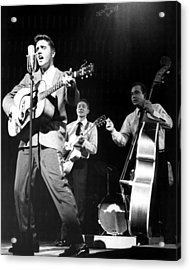 Elvis Presley With Band Acrylic Print by Retro Images Archive
