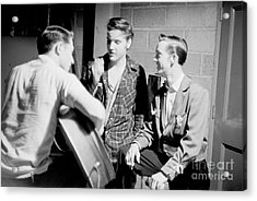 Elvis Presley With Gene Smith And Scotty Moore 1956 Acrylic Print
