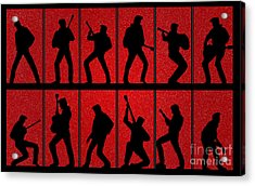Elvis Silhouettes Comeback Special 1968 Acrylic Print