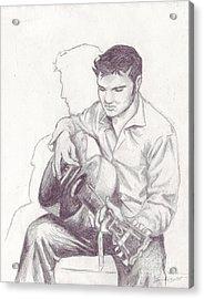 Elvis Sketch Acrylic Print by Samantha Geernaert