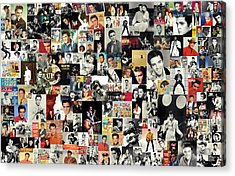 Elvis The King Acrylic Print by Taylan Apukovska