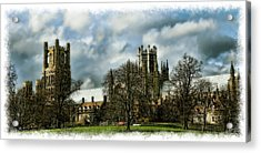 Ely Cathedral In Watercolors Acrylic Print by Joanna Madloch