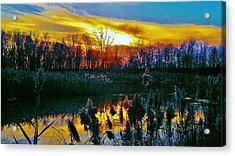 Emagin Sunset Acrylic Print by Daniel Thompson