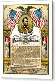 Emancipation Proclamation Tribute 1888 Acrylic Print