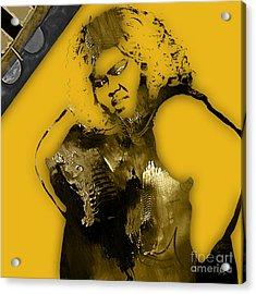 Emapire's Gabourey Sidibe Becky Acrylic Print by Marvin Blaine