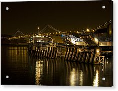Embarcadero Boats Acrylic Print by Bryant Coffey
