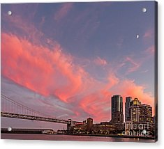 Acrylic Print featuring the photograph Embarcadero Sunset by Kate Brown