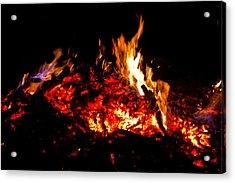 Embers And Flame Acrylic Print by Claus Siebenhaar