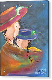 Acrylic Print featuring the painting Embrace by Nereida Rodriguez