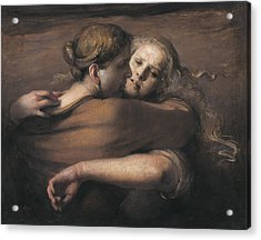 Embrace Acrylic Print by Odd Nerdrum