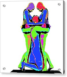 Embrace Of Love Acrylic Print by Jo Collins