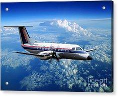 Embraer Emb-120er Braslia Skywest  Acrylic Print by Wernher Krutein