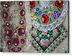 Embroidery Budapest Hungary Acrylic Print