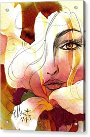 Emely Acrylic Print by P J Lewis
