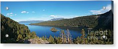 Acrylic Print featuring the photograph Emerald Bay Lake Tahoe Panorama by Paul Topp