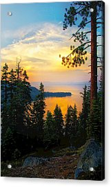 Emerald Bay Sunset Acrylic Print by Joe Urbz