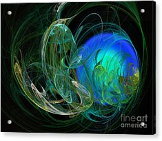 Emerald Encircling Sapphire Acrylic Print