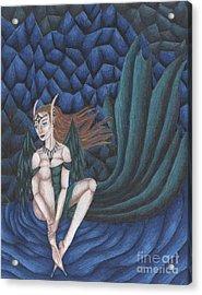 Emerald Eyes Acrylic Print by Coriander  Shea