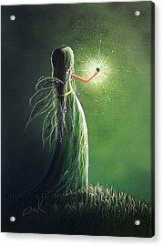 Emerald Fairy By Shawna Erback Acrylic Print by Shawna Erback