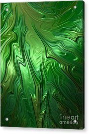 Emerald Flow Acrylic Print by John Edwards